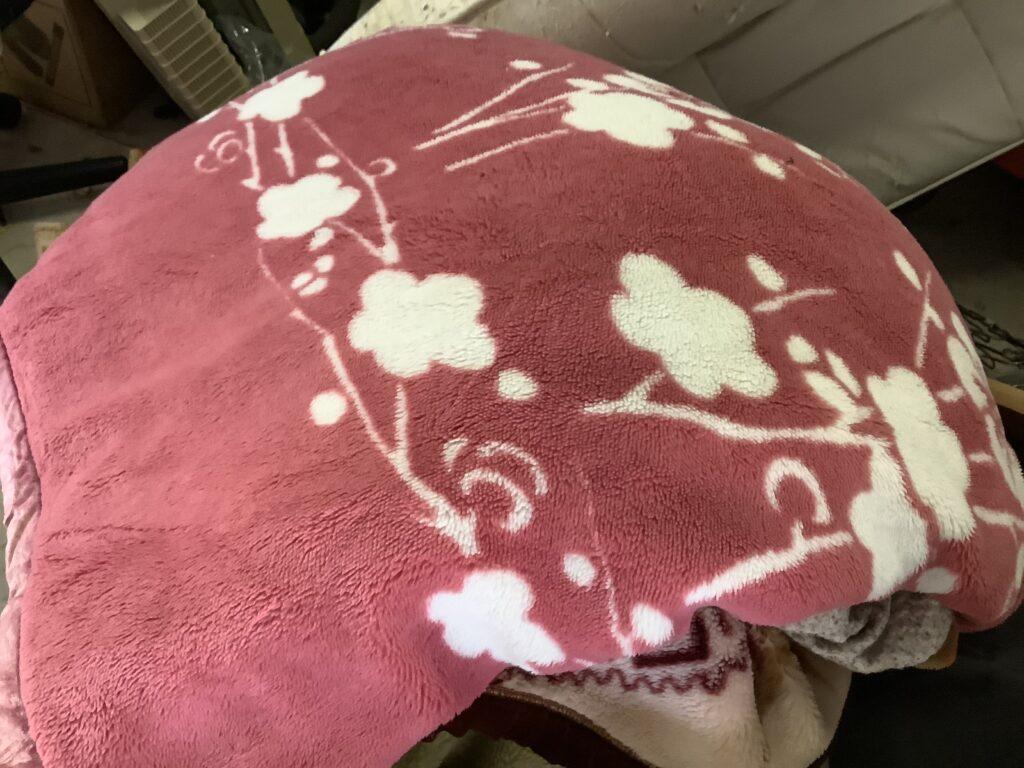 岡山市北区野田屋町で回収した毛布